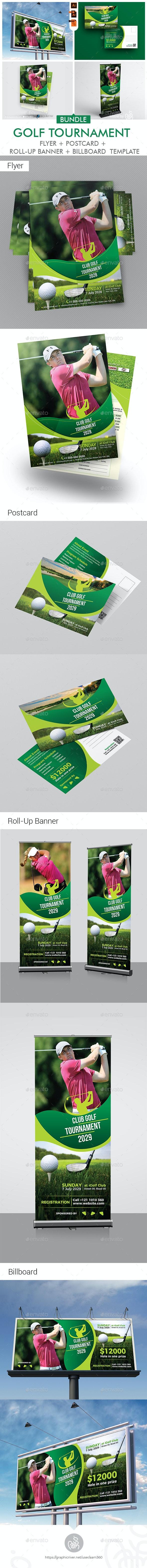 Golf Tournamet Print Template Bundle - Print Templates