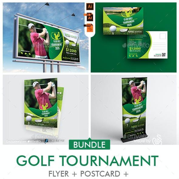 Golf Tournamet Print Template Bundle