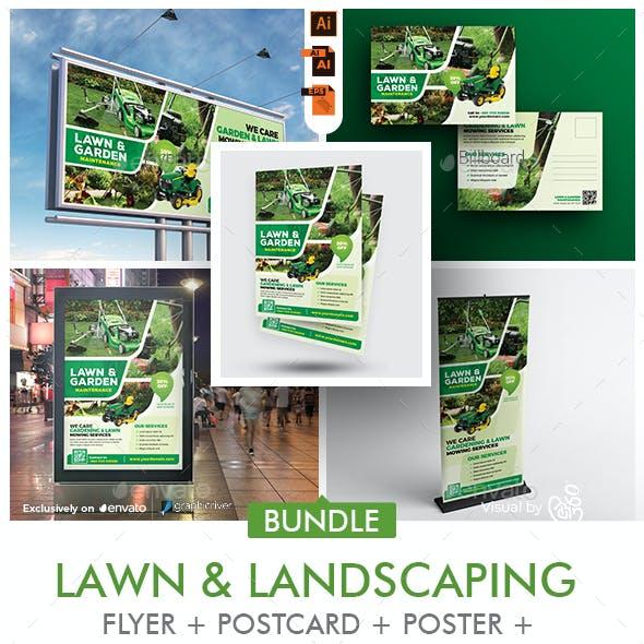 Lawn Maintenance Services Print Template Bundle