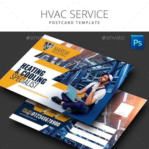 HVAC Service Postcard Template