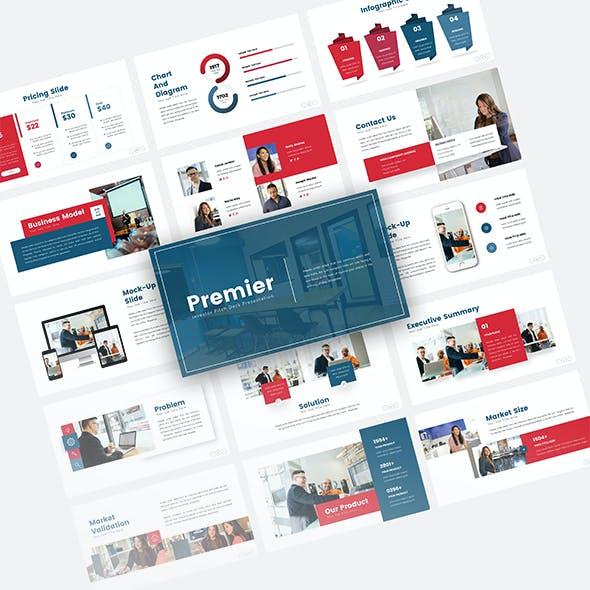 Premier Investor Pitch Deck Presentation Template