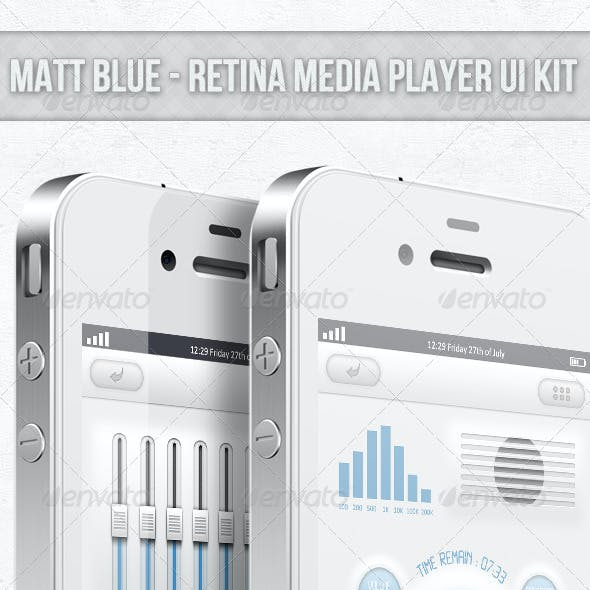 Matt Blue - Retina Audio Player UI
