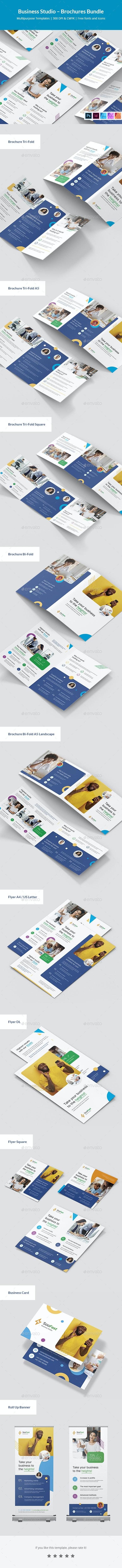 Business Studio – Brochures Bundle Print Templates - Corporate Brochures