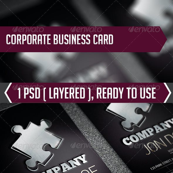Corporate Manager Card