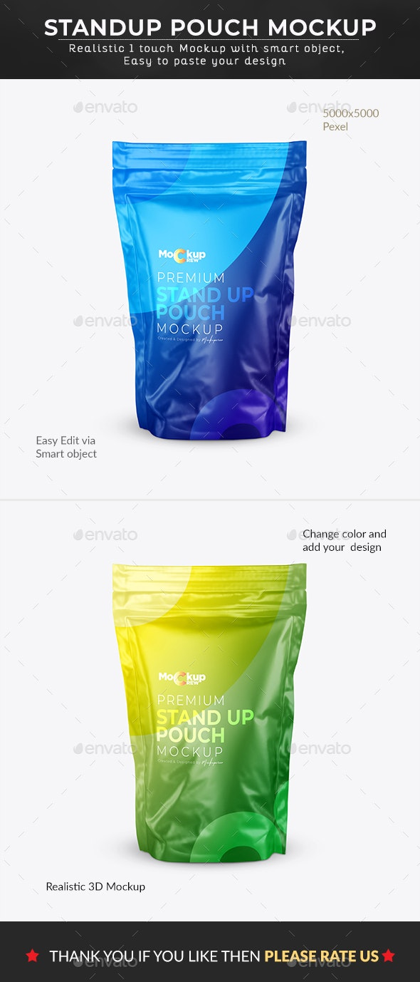 Standup Pouch mockup - Product Mock-Ups Graphics
