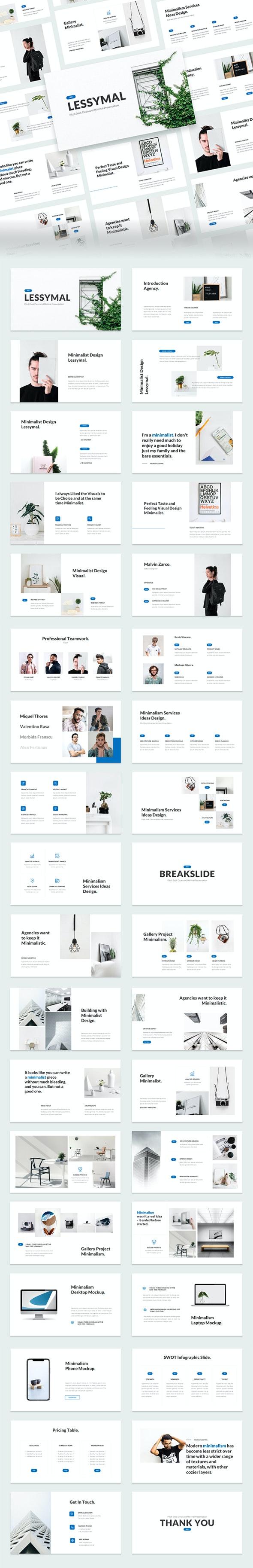 Lessymal - Minimalist Business PowerPoint Template - Business PowerPoint Templates