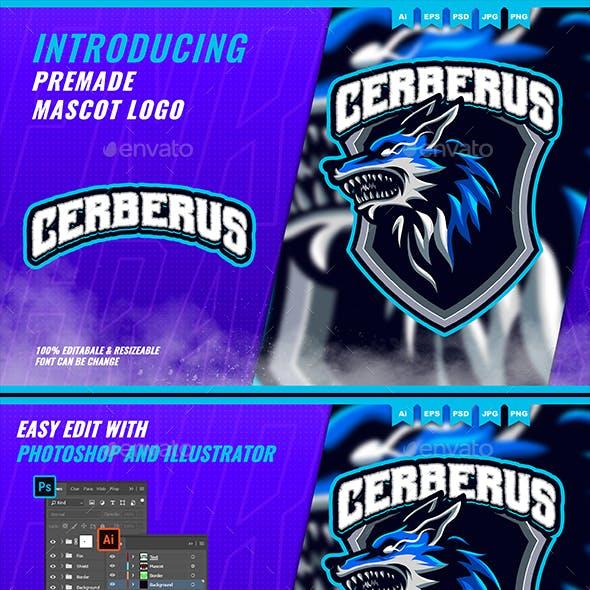 Cerberus Wolf Hellhound - Mascot Esport Logo Template