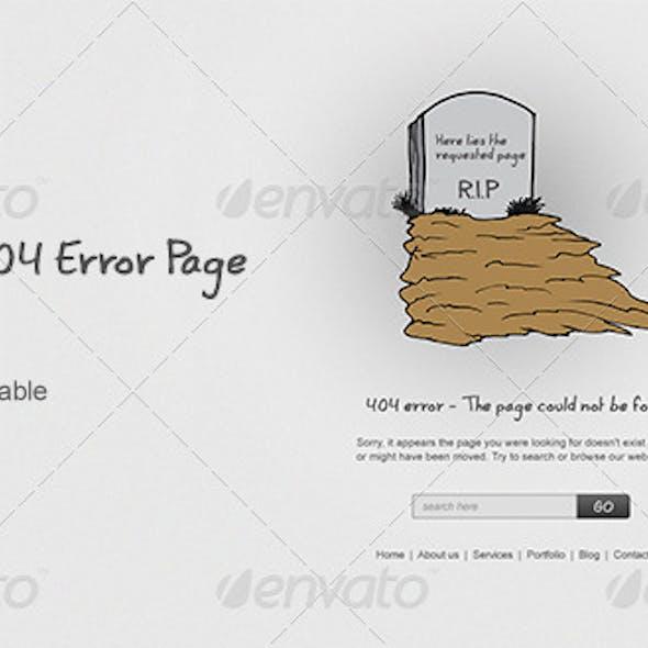 Grave - 404 Error Page