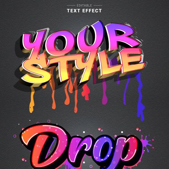 """Editable """"Modern Graffiti Text Effect"""" for Illustrator."""
