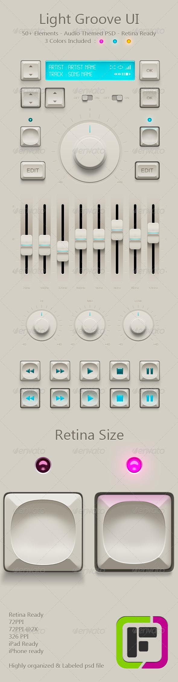 Light Audio UI - User Interfaces Web Elements