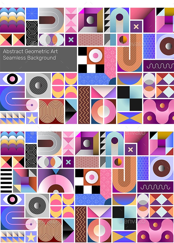 Abstract Geometric Seamless Background - Backgrounds Decorative
