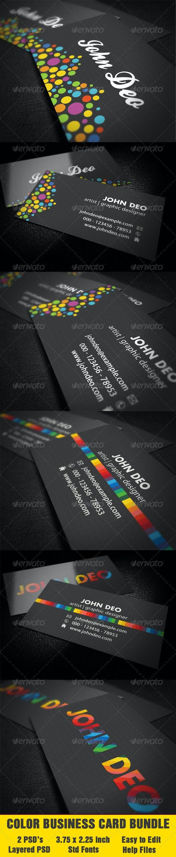 Color Business Card Bundle - 2 Cards - Corporate Business Cards