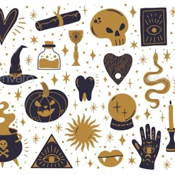Witch Halloween Symbols