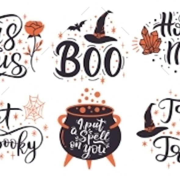 Halloween Lettering Quotes