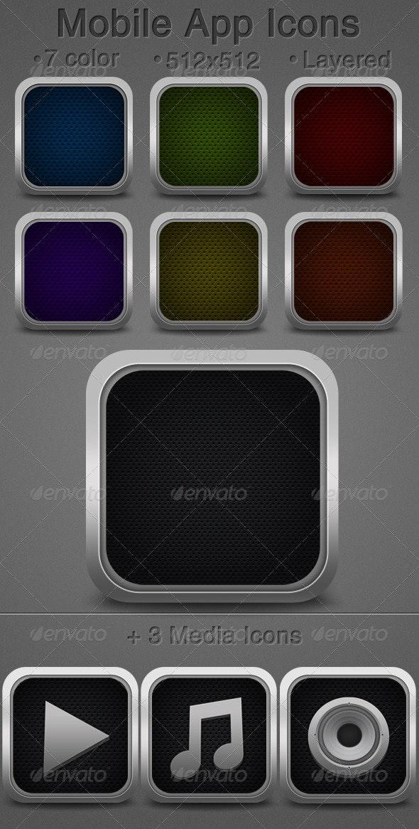 Web / App Icons - Media Icons