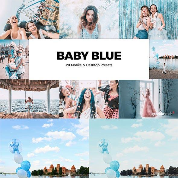 20 Baby Blue Lightroom Presets & LUTs