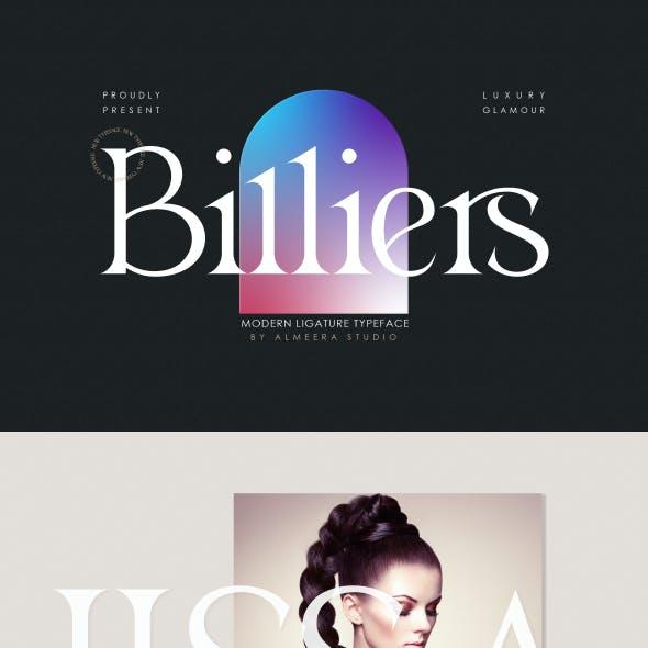 Billiers   Modern Ligature Typeface