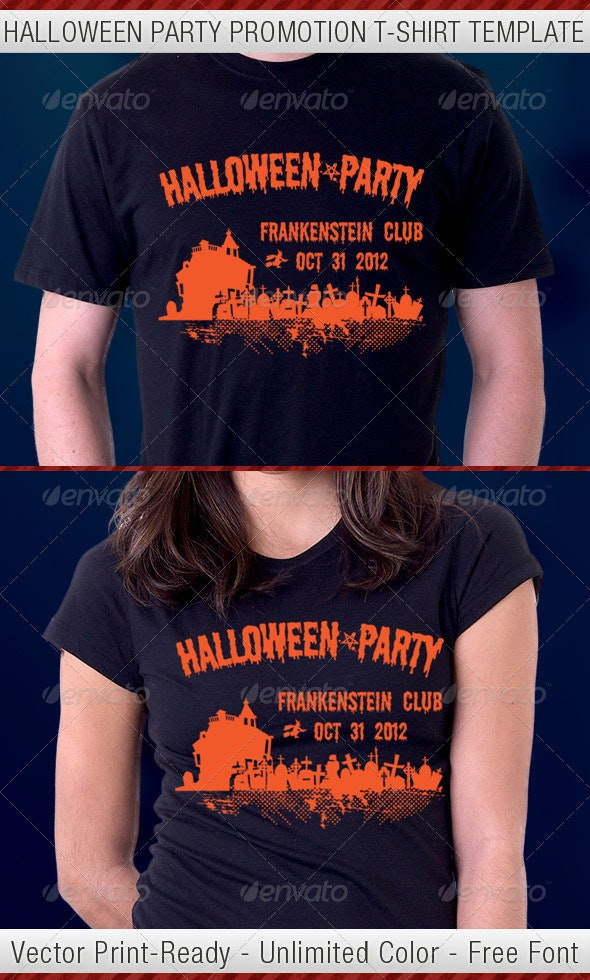 Halloween Party T-Shirt Template - Events T-Shirts