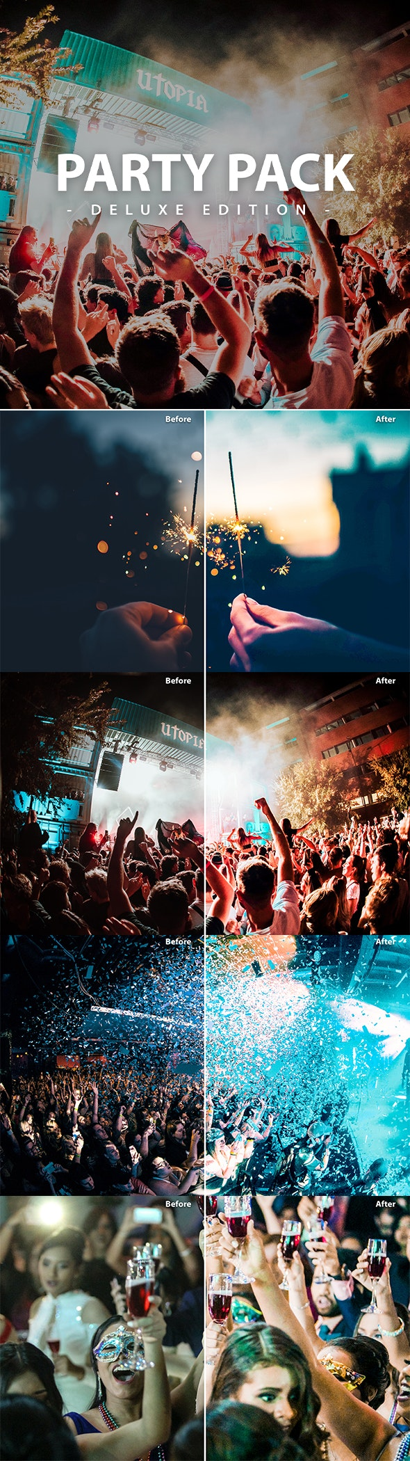Party Pack | Deluxe Edition | for Mobile and Pc - Lightroom Presets Add-ons