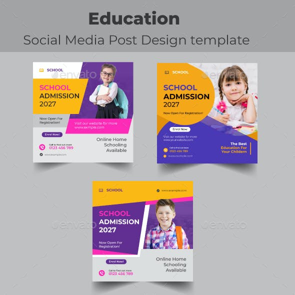 Education Social Media Post Template