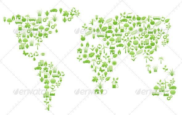 World map shape - Backgrounds Decorative