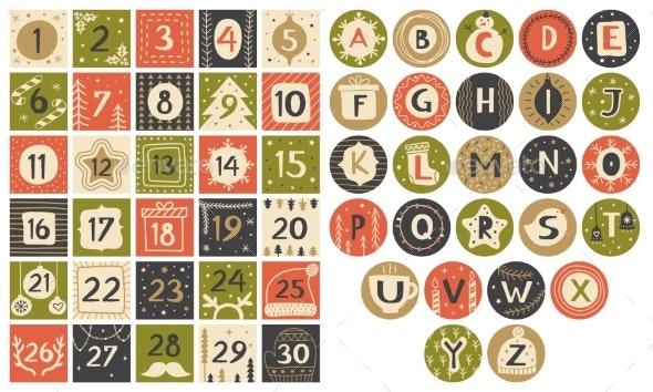 Party Alphabet - Miscellaneous Vectors