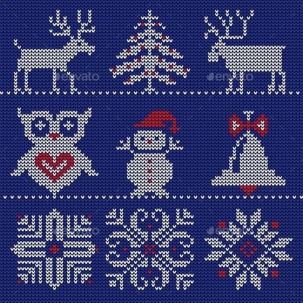 Knitted Logo - Christmas Seasons/Holidays