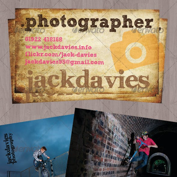 Dirty Grunge Business Card Photographers & Pro's