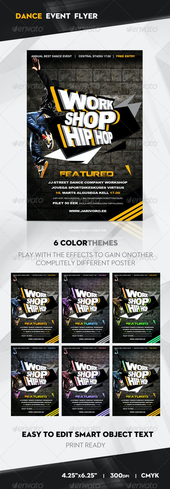 Work Shop Hip Hop Flyer / Poster - Clubs & Parties Events