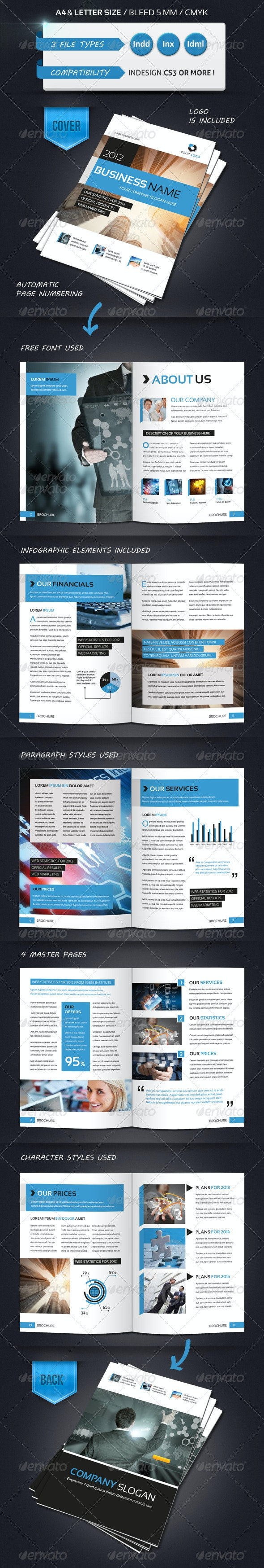 Modern Brochure Template A4 12 Pages - Corporate Brochures