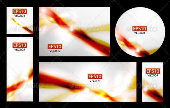 Vector Shiny Waves - Backgrounds Decorative