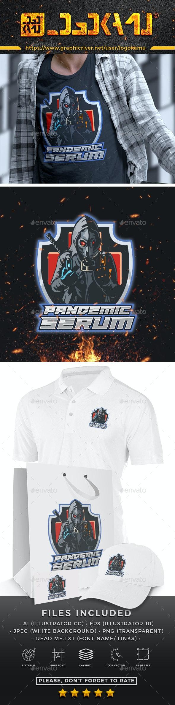 Pandemic Serum Mascot Logo - Humans Logo Templates