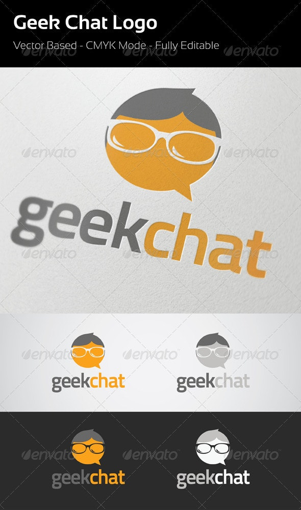 Geek Chat Logo - Symbols Logo Templates