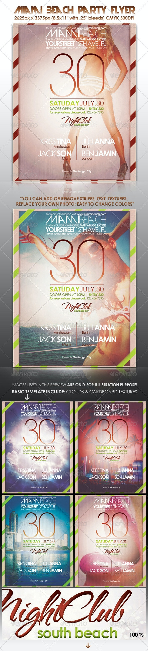 Miami Beach Party Flyer - Clubs & Parties Events