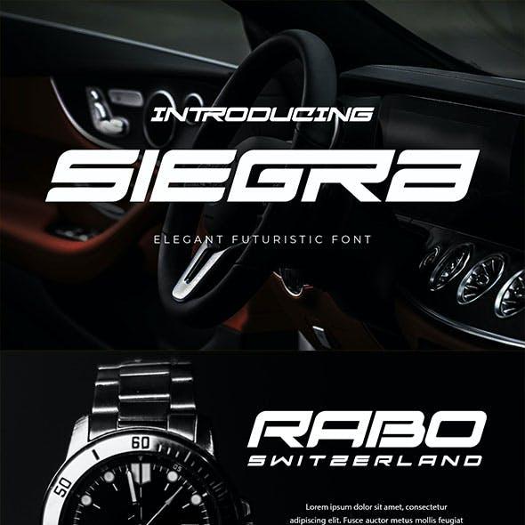 Siegra - Sporty Tech Font