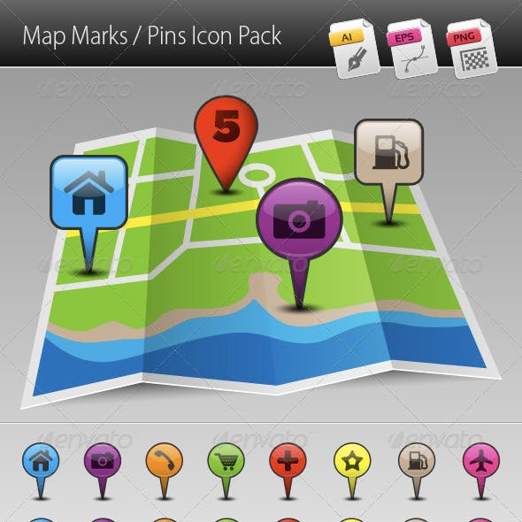 Map Marks / Pins Icon Pack