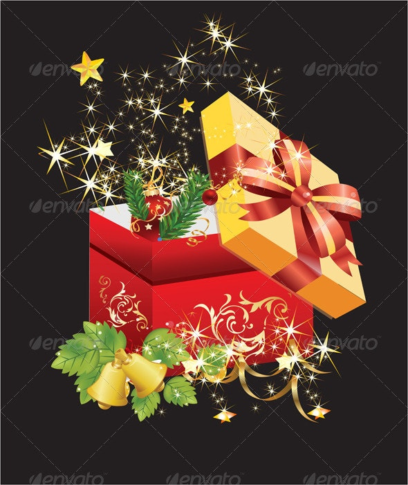 Open Gift Box - Christmas Seasons/Holidays