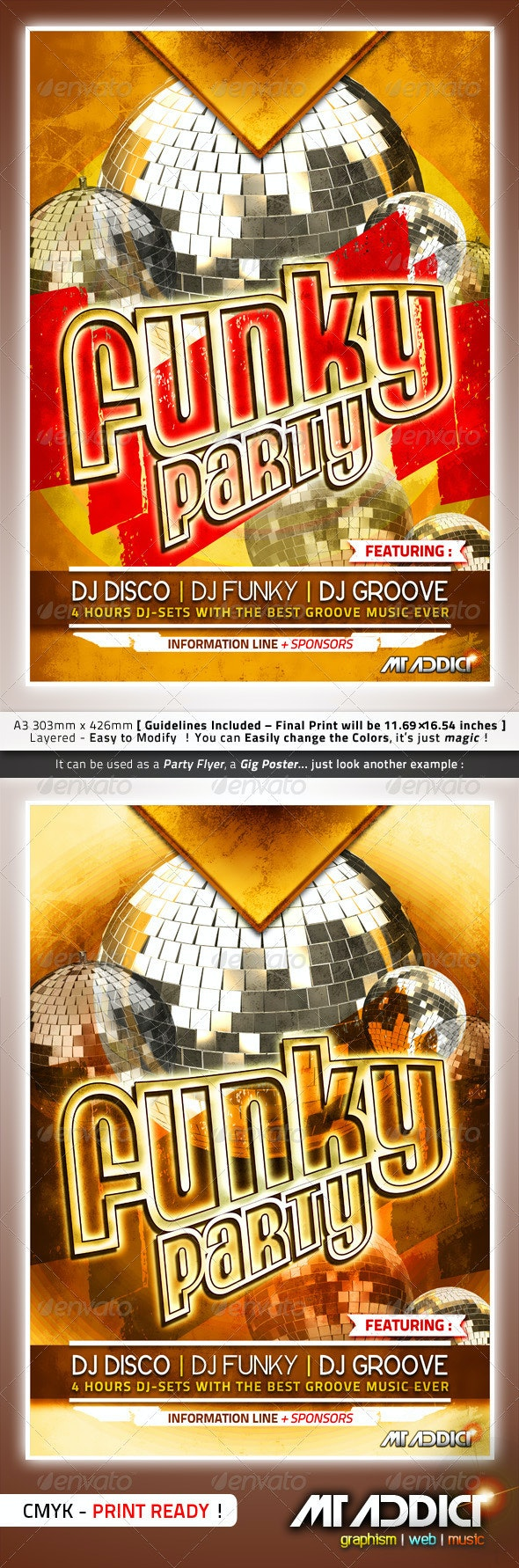 Funky Party Poster - Clubs & Parties Events