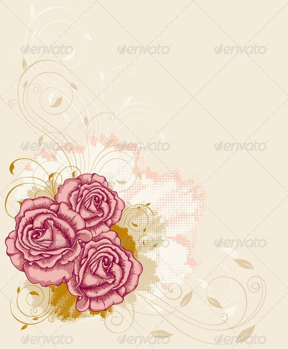 Background with Roses - Flowers & Plants Nature