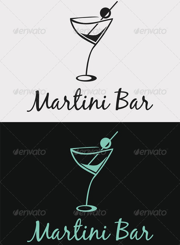 Martini Bar Logo - Objects Logo Templates