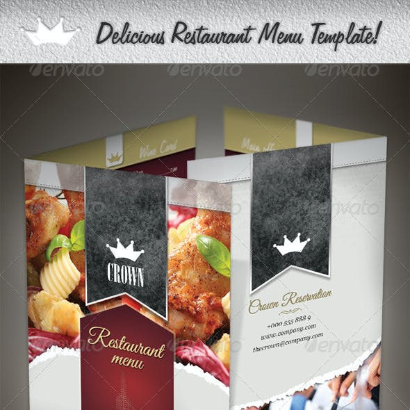 Compre seu Modelo de Cardápio Restaurante delicioso personalizado para seu negócio