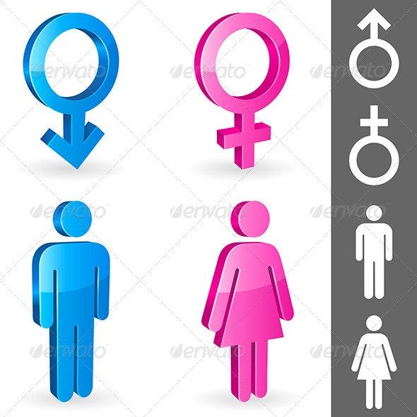 Gender Symbols - Conceptual Vectors
