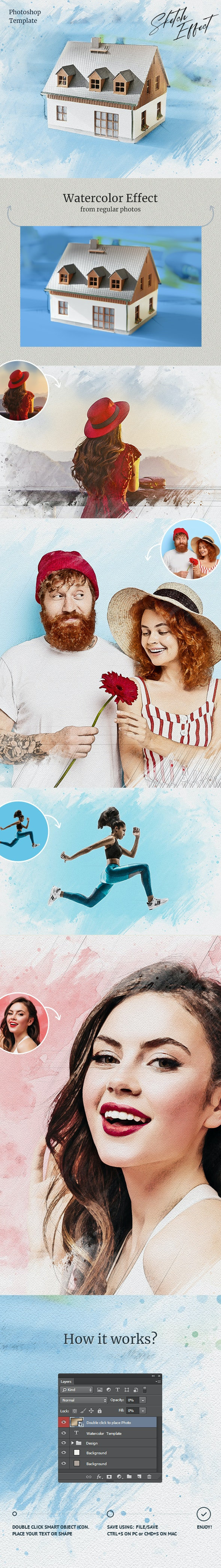 Sketch Effect Photoshop - Photo Effects Actions