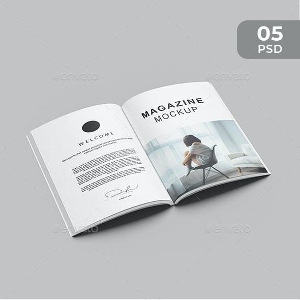 Minimalist A4 Magazine Mockup
