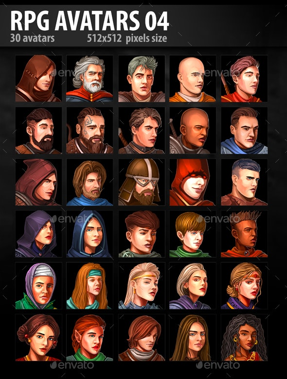 RPG Avatars 04 - Miscellaneous Game Assets