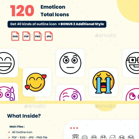 120 Emoticon Icons