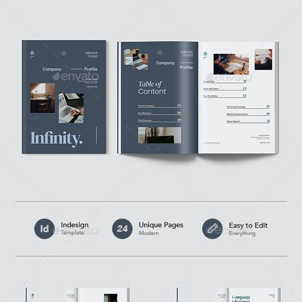 Infiny - Company Profile Document Indesign