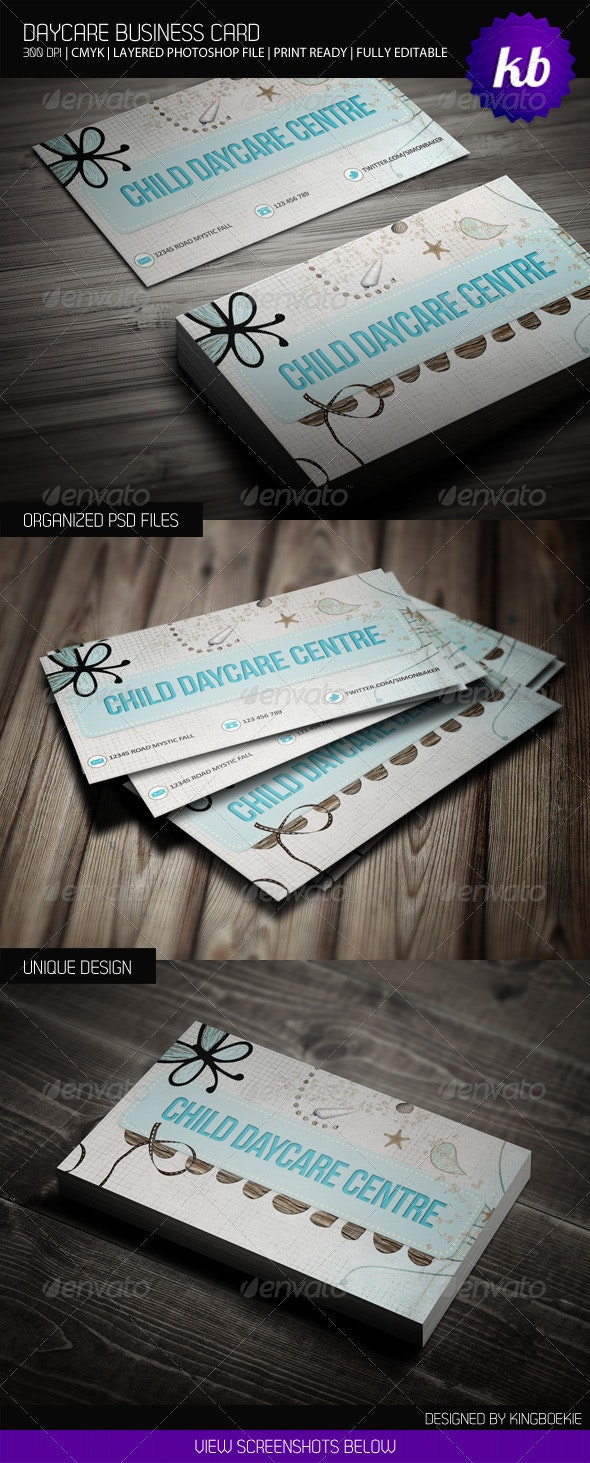 Daycare Business Card - Industry Specific Business Cards