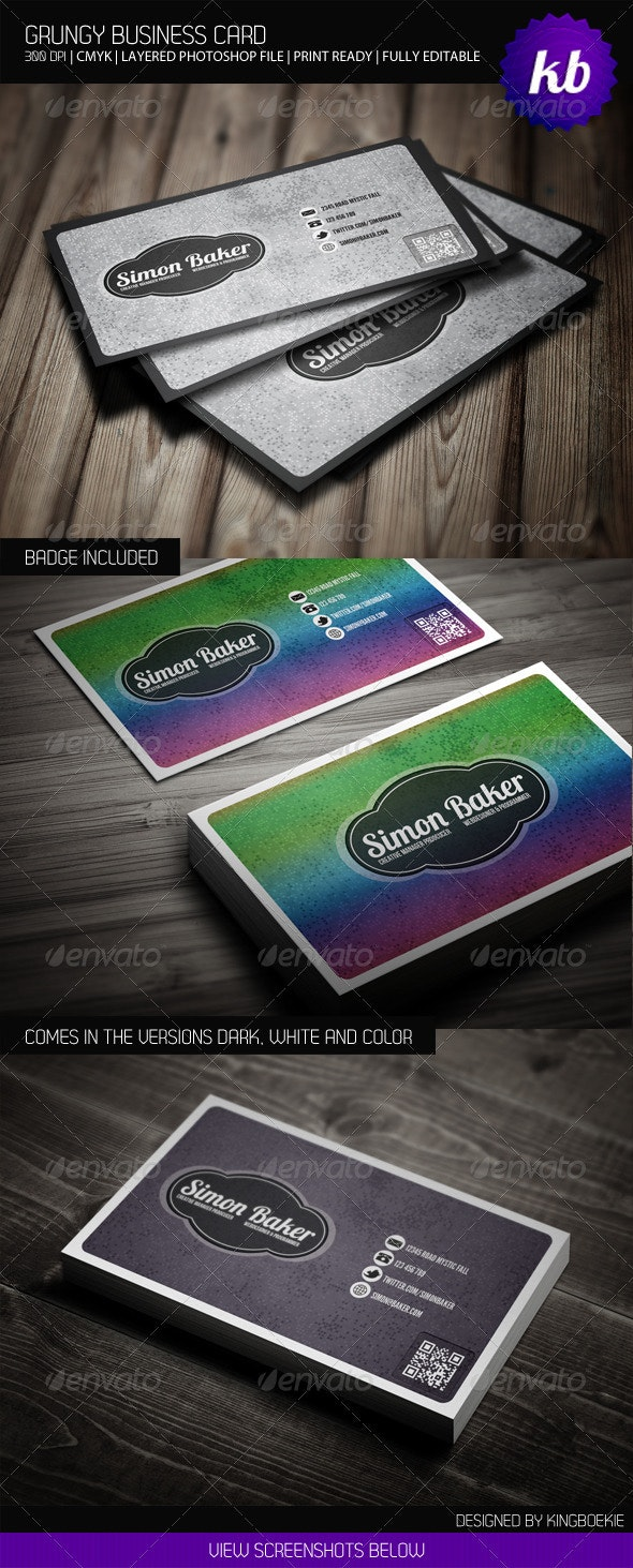 Grungy Business Card - Creative Business Cards
