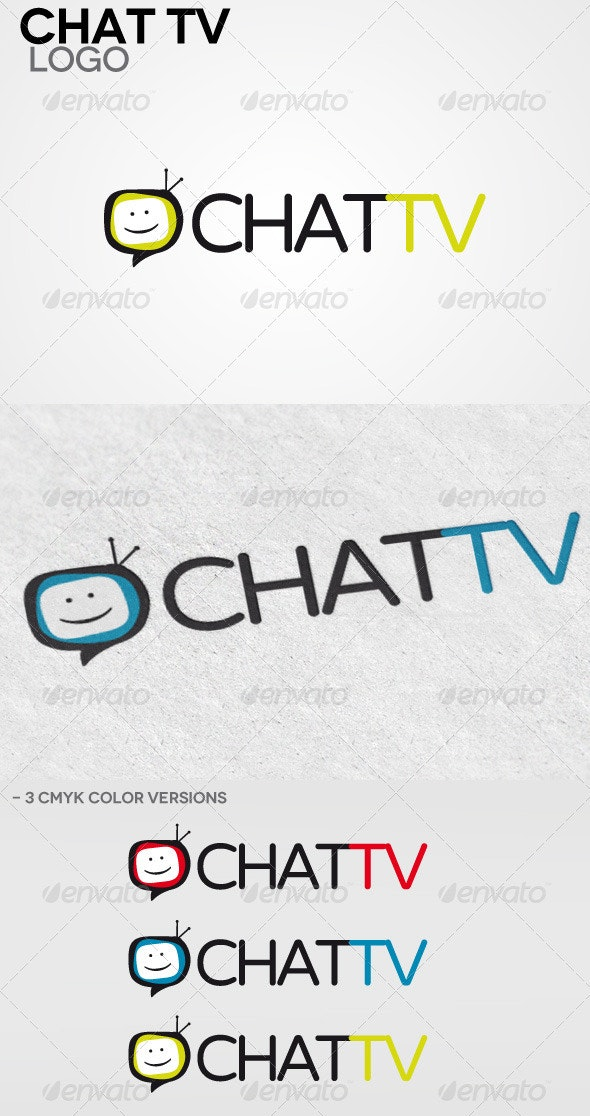 Chat Tv Logo - Humans Logo Templates